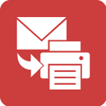 Attach, Email and Print icon